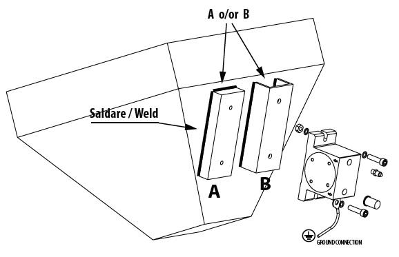 Instalacja wibratorów pneumatycznych S-OT-OR